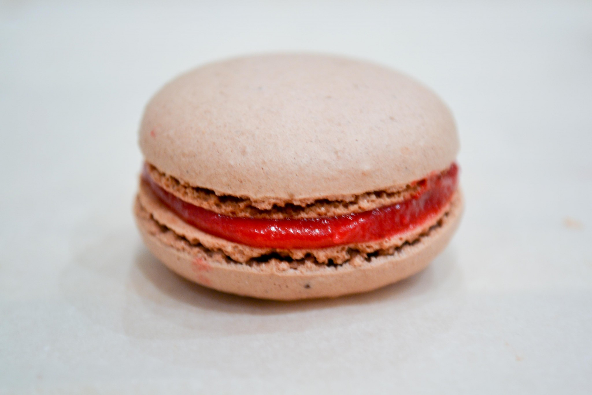 Cranberry Curd and Chocolate Macaroon Macaron