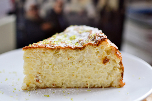 Lime and Coconut Rice Cake