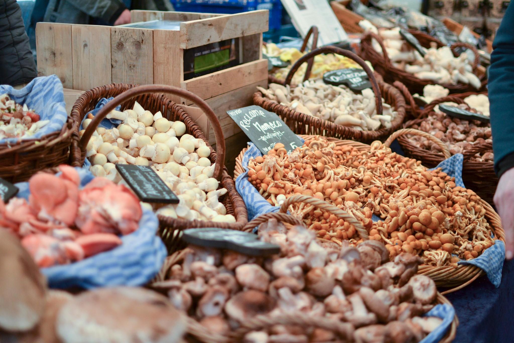 amsterdam markets mushrooms