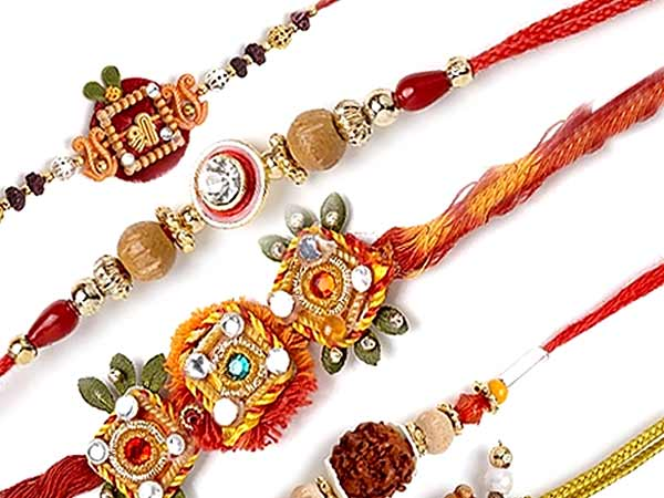 Bright and colourful rakhis
