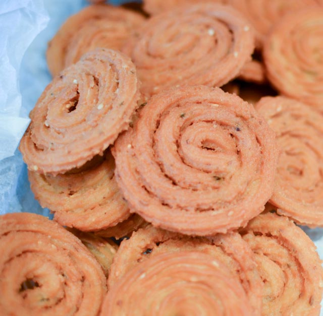 Diwali food, farsan, chakri