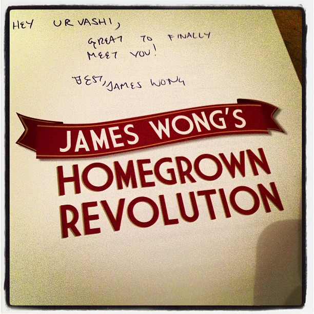 My signed copy of Homegrown Revolution