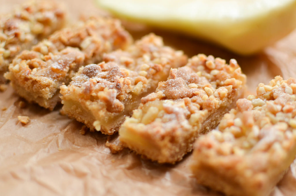 Pear and Ginger Crumble Slice