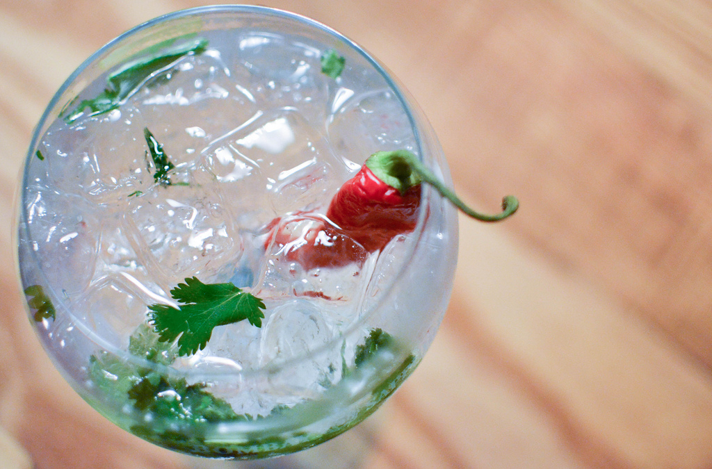 G&T with Chilli, Kaffir Lime and Ginger