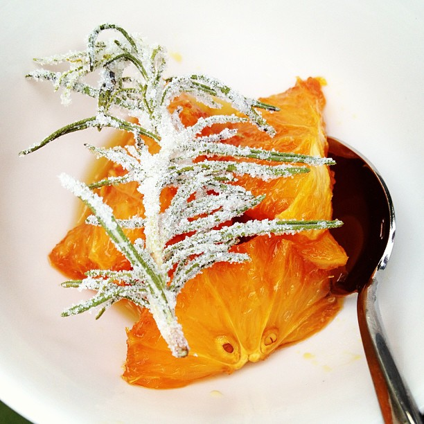 And to finish orange with rosemary #herbfest by @companyofcooks