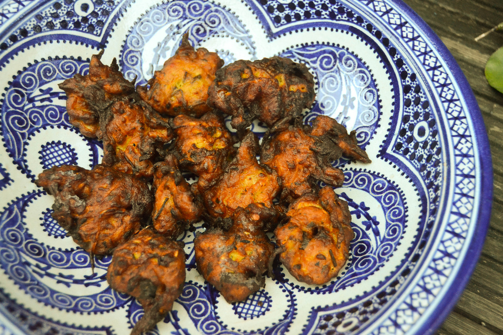 Courgette and Baobab Bhajias