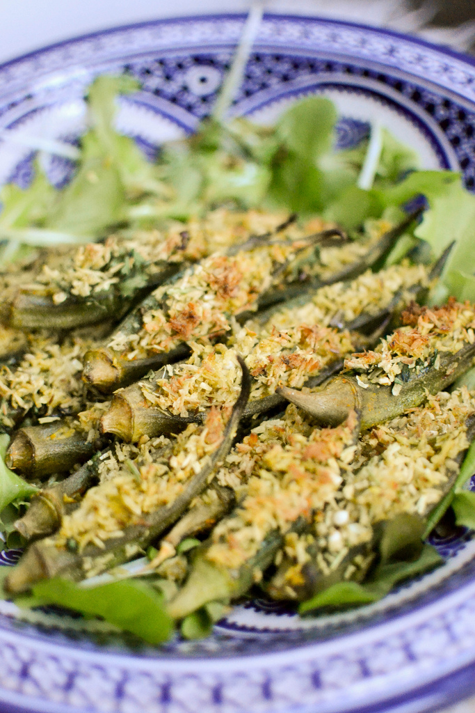 Stuffed Okra with Coconut