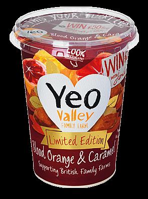 Yeo valley Blood Orange and Caramel Yoghurt