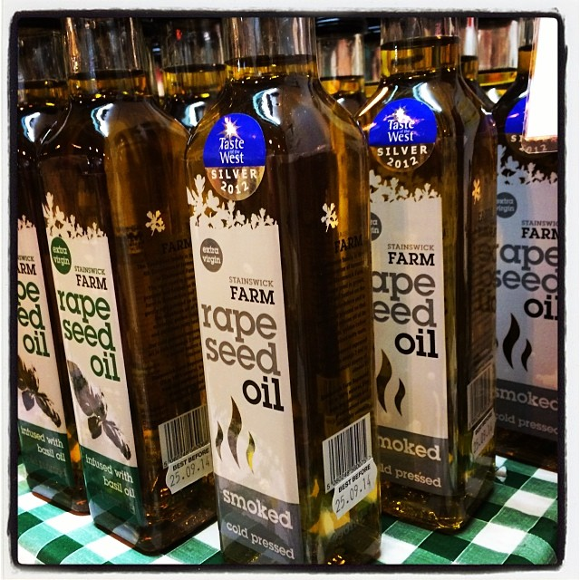 This is amazing! Smoked Rapeseed Oil grown and made in Oxfordshire #brandbritain @stainswickfarm