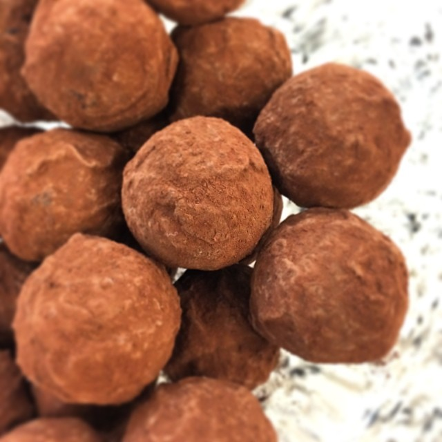 Truffles with the 64% cacao #wholebeanchocolate - who wants one?
