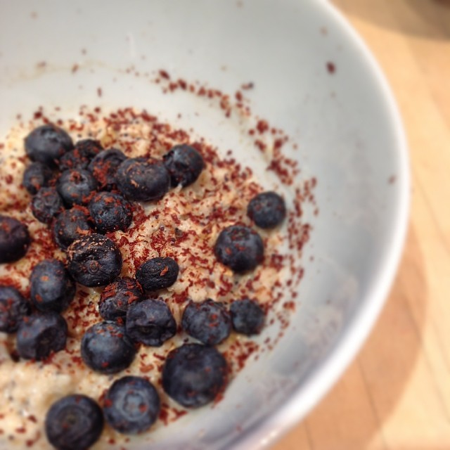 A sprinkling of @paul_a_young 64% #wholebeanchocolate on my porridge this morning #breakfast