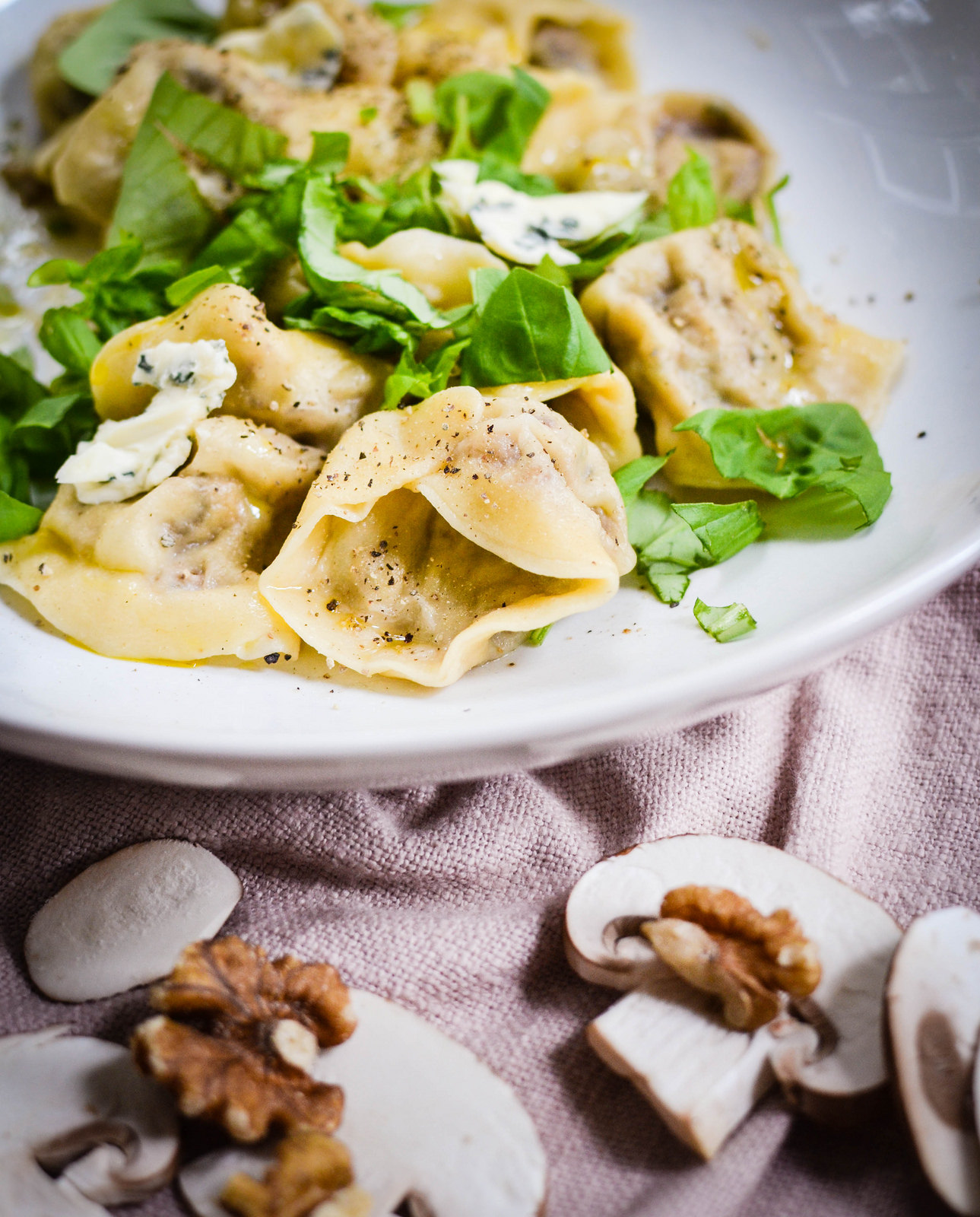 Castello Creamy Blue Tortellini with Mushrooms and Walnuts