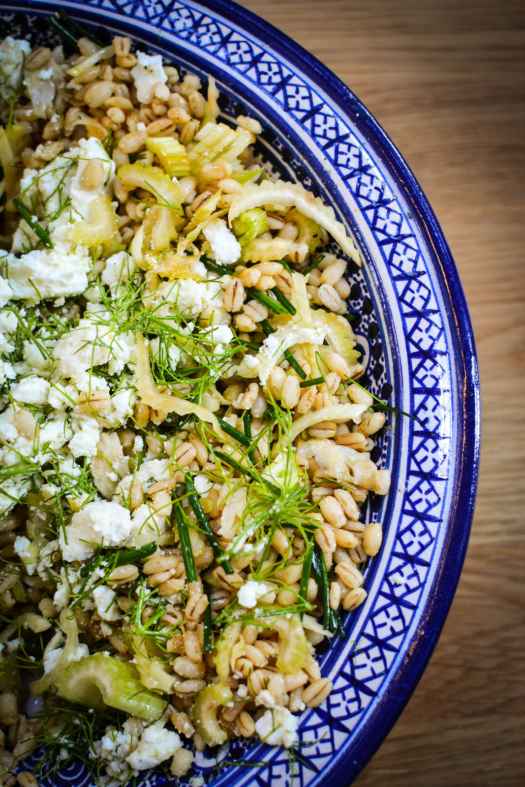 Fennel, Barley and Feta Salad
