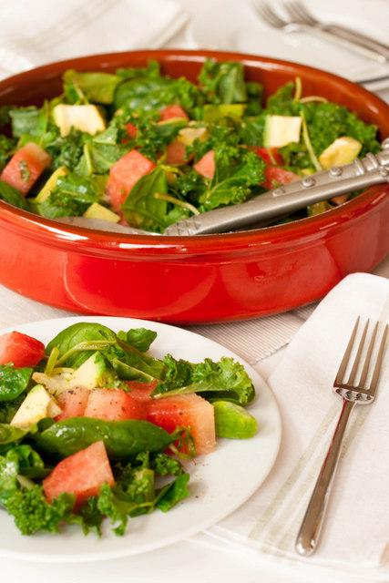 Kale-Watermelon-and-Avocado-Salad