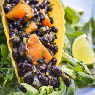 Black Bean and Butternut Squash Tacos with Hillfarm's Salad Dressing