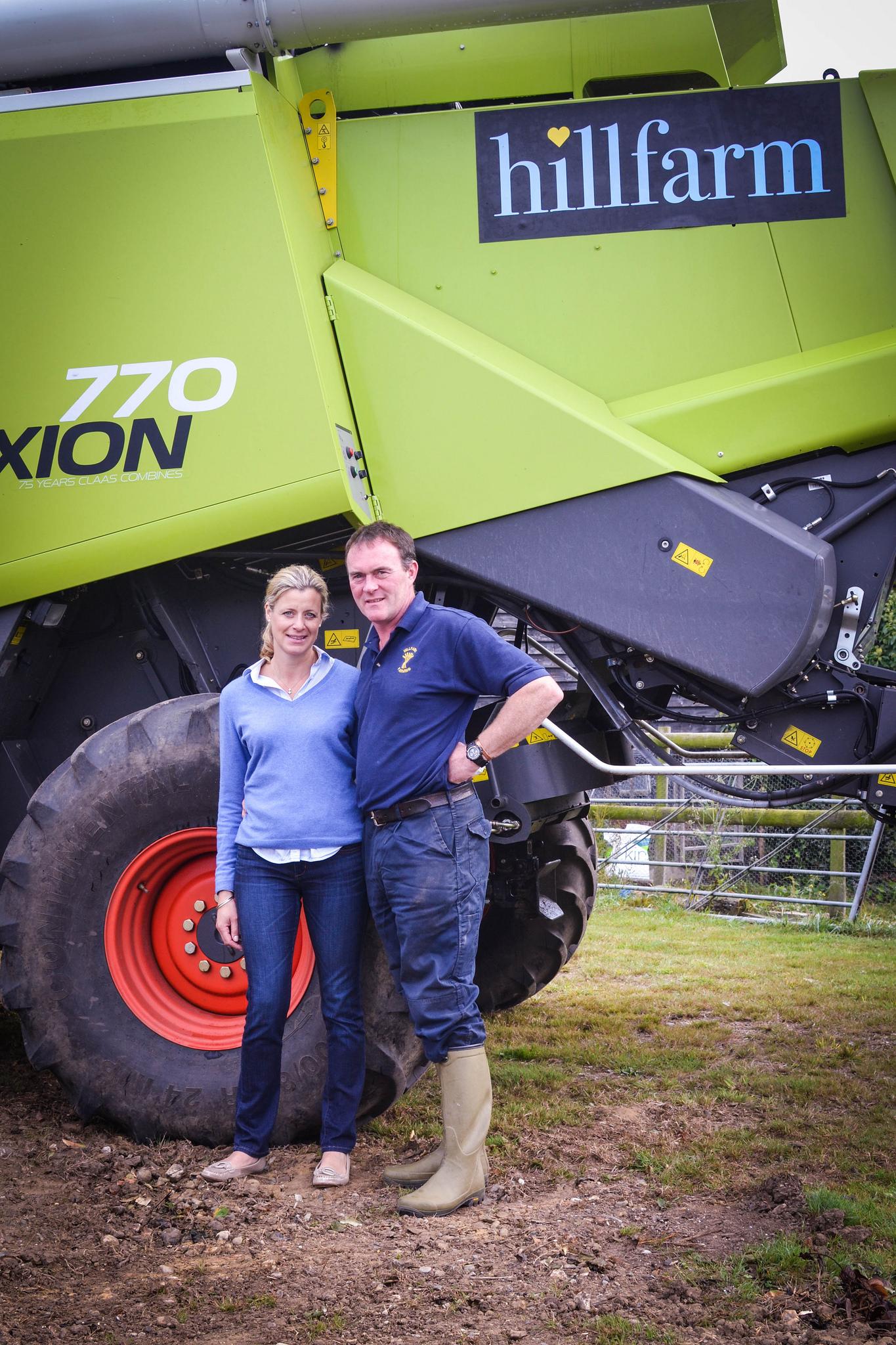 Sam and Clare Fairs at Hillfarm Oil