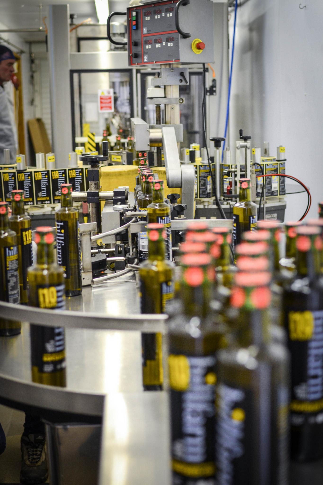 Hillfam Rapeseed Oil Bottles commemorating the anniversary of WW1
