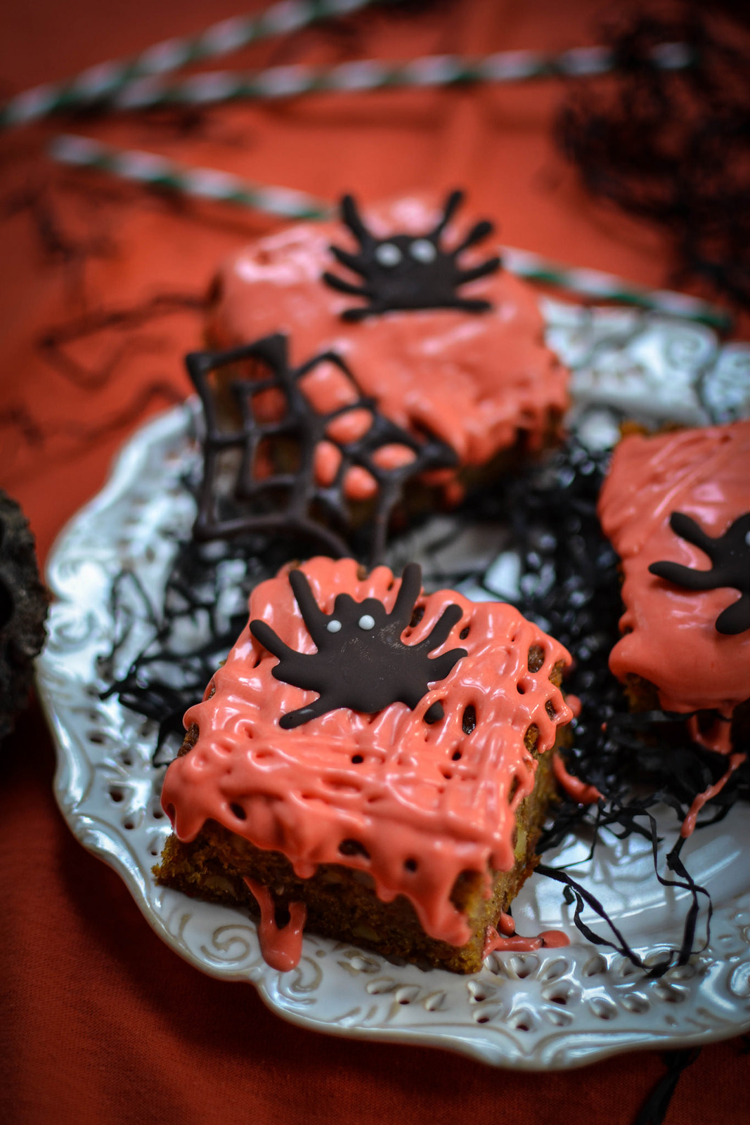 Carrot Cake with Ghoulish Halloween Frosting
