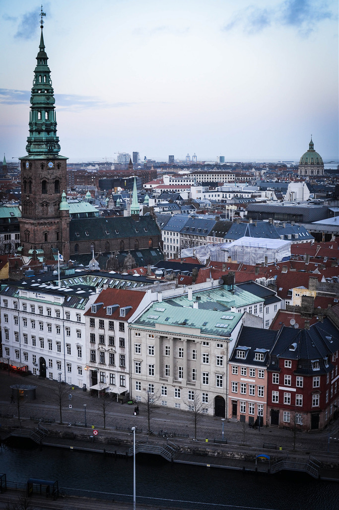 View from top of Christiansborg palace