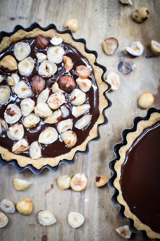 Chocolate and Hazelnut Tarts
