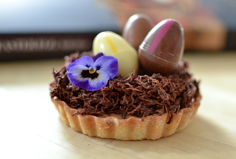chocolate easter egg tarts