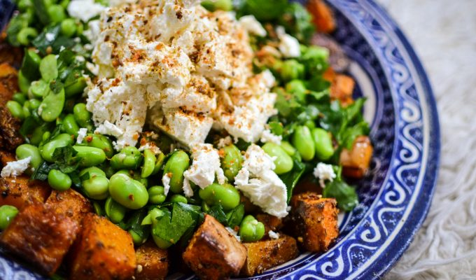 Autumnal Squash And Broad Bean Salad