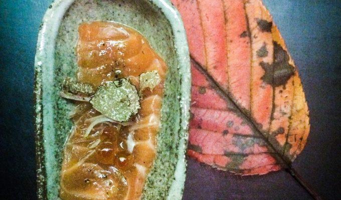 Sake and Salmon Sushi at Sake No Hana