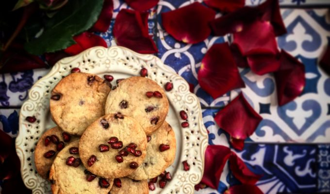 Pomegranate and Rose Shortbread (Cookies)