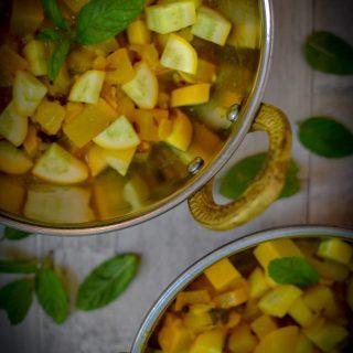curry, courgette, zucchini,