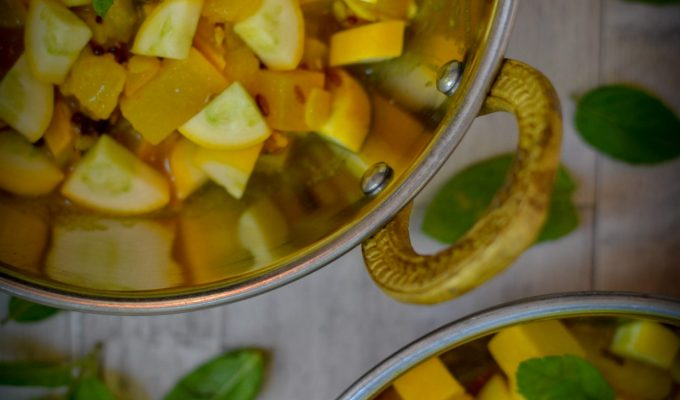 Courgette and Mint Curry