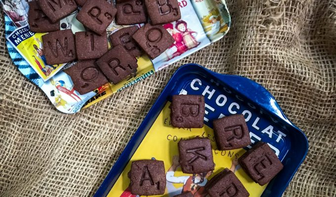 Chocolate Scrabble Biscuits